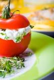 Palcowy karmowy pomidor Zdjęcia Stock