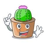 Palcowy maskotki gwiazdy kaktus dekoruje w ogródzie royalty ilustracja