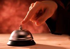 Palcowy odciskanie recepcyjny dzwon Fotografia Royalty Free