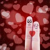 Palcowy pary valentine projekt ilustracja wektor