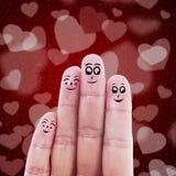Palcowy rodzinny valentine projekt ilustracja wektor