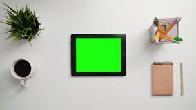 Palcowy Scrolling na Zielonym ekranie sensorowym zdjęcie wideo