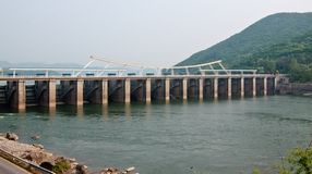 Paldang dam Royalty Free Stock Photos