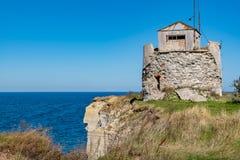 Paldiski cliffs. Estonia, EU. Ruined lighthouse on a cliffs of Paldiski. Pakri peninsula, Baltic sea, Estonia Royalty Free Stock Images