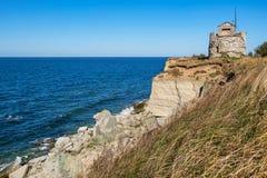 Paldiski cliffs. Estonia. Rocky cliffs of Paldiski. Pakri peninsula, Baltic sea, Estonia Royalty Free Stock Photo