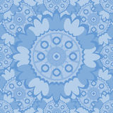 Pale abstract seamless pattern with round ornamental elements. Royalty Free Stock Photo
