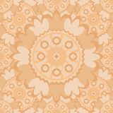 Pale abstract seamless pattern with round ornamental elements. Stock Image