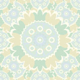 Pale abstract seamless pattern with round ornamental elements. Stock Images