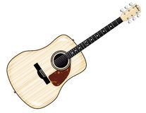 Pale Acoustic Guitar Royalty Free Stock Photo