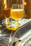 Pale ale in a brewery Stock Photography
