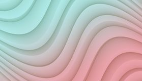 Pale Aqua Blue and Pink smooth flowing curves abstract wallpaper background design vector illustration