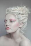 Pale beauty portrait of blond woman Royalty Free Stock Images
