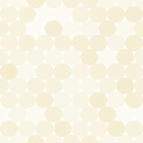 Pale beige vector seamless pattern with circles. Monochrome abstract background. Royalty Free Stock Photo