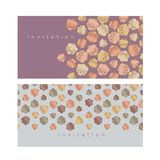 Pale blossom elegant floral patter. N for wedding projects, spring invitation. vector illustration with geometric decorative sakura or almond flowers in minimal Royalty Free Stock Images