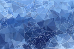 Pale blue abstract low poly geometric background Royalty Free Stock Photos