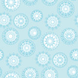 Pale blue abstract snowflakes background. Royalty Free Stock Image