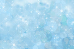 Pale Blue Abstract Star Background. A pale blue twinkling star background with misty clouds and bokeh Stock Images