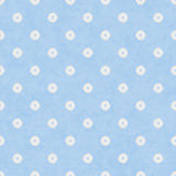 Pale Blue Fabric with Flowers Background Royalty Free Stock Photography