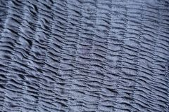 Pale blue fabric with shirring. From above Royalty Free Stock Image