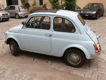 Pale blue FIAT 500 Royalty Free Stock Images