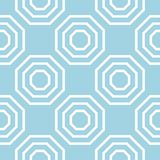 Pale blue geometric print. Seamless pattern. For web, textile and wallpapers Stock Photo
