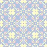 Pale blue seamless background. Floral pattern. For wallpapers, textile and fabrics Royalty Free Stock Photo