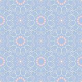 Pale blue seamless background. Floral pattern. For wallpapers, textile and fabrics Stock Images