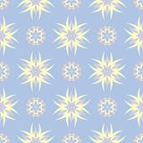 Pale blue seamless background. Floral pattern. For wallpapers, textile and fabrics Royalty Free Stock Image