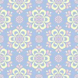 Pale blue seamless background. Floral pattern. For wallpapers, textile and fabrics Stock Photos