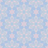Pale blue seamless background. Floral pattern. For wallpapers, textile and fabrics Stock Image