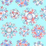 Pale blue seamless floral abstract background Stock Images