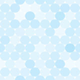 Pale blue vector seamless pattern with circles. Royalty Free Stock Photo