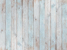 Pale blue wood planks texture or background. Vintage pale blue old wood planks background or texture stock photography