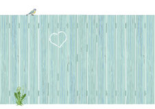 Pale blue wooden fence Royalty Free Stock Photos