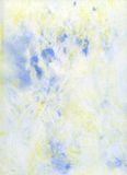 Pale Blue and Yello Abstract Watercolor Background stock photography