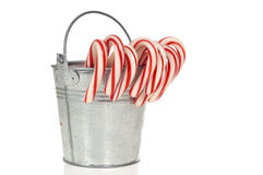 A pale of Candy Canes Royalty Free Stock Images