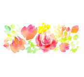 Pale color abstract rose flower element. Royalty Free Stock Photography