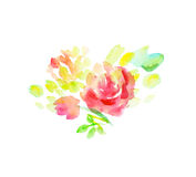 Pale color abstract rose flower element. Royalty Free Stock Image
