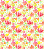 Pale color abstract rose flower seamless pattern. Royalty Free Stock Photography