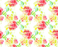 Pale color abstract rose flower seamless pattern. Royalty Free Stock Image