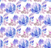 Pale color abstract rose flower seamless pattern. Royalty Free Stock Images