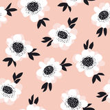 Pale color abstract rose flowers seamless pattern. Royalty Free Stock Photography