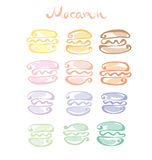 Pale color  assorted macaron sweet cake. Stock Images