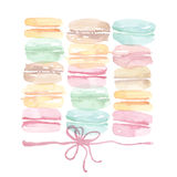Pale color assorted macaron sweet cake. Stock Photography