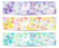 Pale color banner. Banner of pale color.Triangle effect pattern Stock Photos