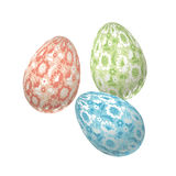 Pale color Easter egg decoration vector illustration. Royalty Free Stock Image
