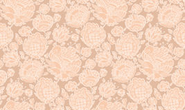 Pale color floral decorative seamless pattern Stock Photo