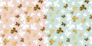 Pale color and gold butterfly seamless pattern. Cute repeatable motif for surface design. Stock vector illustration Stock Image