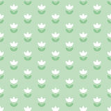 Pale color Holland tulip repeatable motif. Stock Images