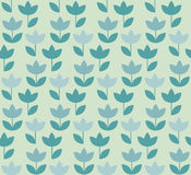 Pale color Holland tulip repeatable motif. simple laconic vector. Illustration design. seamless background for wrapping paper or fabric Royalty Free Stock Photography